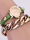 Koshi 2014 de mode sur Gild Rivet chaine des femmes Watch (vert)