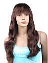 "Beyonce\'s Fashionable Style Custom Full Lace Natural Wave 16"" Indian Remy Hair with Bang - 26 Colors To Choose"