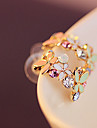 Cercei Stud Cristal Placat Auriu imitație de diamant Curcubeu Bijuterii Pentru Petrecere Zilnic Casual 2pcs