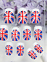 24PCS Union Jack mönster Akryl Full storlek Falska Fake Nail Art Tips med Glue