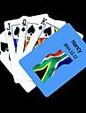 Personlig gåva Blå Sydafrika sjunker Mönster Playing Card