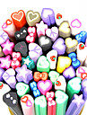 20PCS Polymer Love-Shape Canes Rods Nail Art Decoration