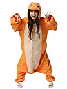 Kigurumi Pyjamas drake Leotard/Onesie Halloween Animal Sovplagg Orange Lappverk Polar Fleece Kigurumi Unisex Halloween / Karnival