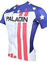 PALADIN® Maillot de Cyclisme Homme Manches courtes Velo Respirable Sechage rapide Resistant aux ultraviolets Maillot Hauts/Tops100 %