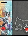 Bijoux Inspire par Naruto Sasuke Uchiha Anime Accessoires de Cosplay Colliers Rouge / Argente Alliage Masculin