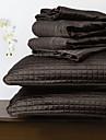 huani® täcke set, 3 st pläd svart polyester