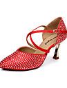 Chaussures de danse (Rouge/Autre Talon aiguille - Satin - Moderne