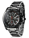 Men\'s Racing Style Black Alloy Quartz Wrist Watch