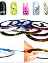12PCS 12-Color Striping Tape Line Nail Stripe Tape Nail Art Decoratie Sticker