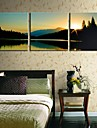 Stretched Canvas Art Landscape The Lake Scenery Set om 3