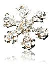 10ST Snowflake Design Rhinestone Dubbade Nail Art Dekorationer