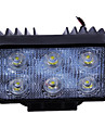 18W(6*3W Epsitar) 2050LM 6000K Car LED Work Light Bar Spot Lamp for Off-road SUV Truck (DC9-32V)