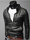 coton män vinter stil mode bekväm pu coat