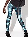 PinkQueen ® Spandex Bleu Brillant meduses animale sport de femmes