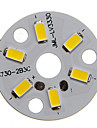 3W 250-300LM chaud 5730SMD LED Module integre de lumiere blanche (9-12V)
