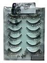 6 pairscoolflower faux cils avec diamant 024 #