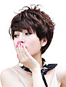 Capless haute température Fibre ondes courtes Synthèse cheveux Bang Side Perruques 3 couleurs disponibles