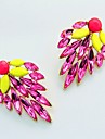 Shadela Kontrast Fluorescens Color Statement Leaf Ear ring