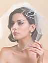 One Tier Blusher Wedding Veil(More Colors)