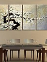 Stretched Canvas Art The Plum Blossom Decoration Set of 4
