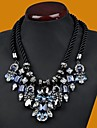 Women\'s Fashion Double Hand Woven Gem Diamond Necklace