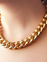 Necklace Chain Necklaces Jewelry Party / Daily Fashion Alloy Gold / Black / Silver 1pc Gift