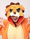 kigurumi Pyjamas Lion Collant/Combinaison Fete / Celebration Pyjamas Animale Halloween Orange Mosaique polaire Kigurumi Pour Unisexe