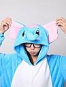 Kigurumi Pyjamas Elefant Leotard/Onesie / Inneskor Halloween Animal Sovplagg Blå Lappverk Korallfleece Kigurumi Unisex Halloween