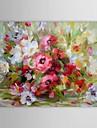 dipinto a mano pittura a olio floreale ancora vita vaso di fiore con telaio allungato