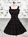 Une Piece/Robes Lolita Classique/Traditionnelle Lolita Cosplay Vetrements Lolita Couleur Pleine Sans manche Moyen Robe Pour Coton