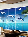 Doudouwo ® Animale Dolphin Anti-Oil Wall Stickers
