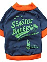 Seaside Bakery Pattern 100% Cotton T-Shirt for Dogs (XS-L)