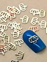 Forme 200pcs couronne en metal dore tranche nail art decoration