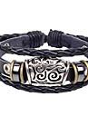 Men\'s Popular Hollow Feature Leather Braided Bracelets