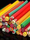 50st frukt mönster 3d sockerrör stick stång klistermärke slumpmässig färg nagel konst dekoration