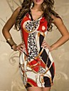 XiXiangYi® Women\'s Ethnic Cotton and Spandex Mini Dress