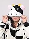 Kigurumi Pijamale Lapte de Vacă Leotard/Onesie Papuci Festival/Sărbătoare Sleepwear Pentru Animale Halloween Imprimeu Animale Coral Fleece
