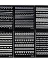 6st 2d vit spets spik klistermärken