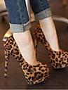 damskor spetsig tå stilett häl flockas pumpar skor