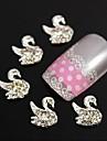 10st 3d strass svan diy legering tillbehör nagel konst dekoration