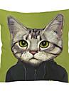 modern underbar katt bomull / linne dekorativa örngott