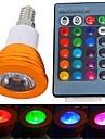 3W E14 LED-spotlights 1 Högeffekts-LED 180 lm RGB Fjärrstyrd AC 85-265 V