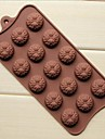 15 håls solrosform cake is jelly choklad formar, silikon 22 × 10,5 × 1,5 cm (8,7 × 4,1 × 0,6 tum)