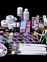 61PCS Glitter UV Gel Cleanser Primer Nail Art Kit Set