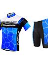 FJQXZ® Maillot et Cuissard de Cyclisme Homme Manches courtes Velo Respirable / Sechage rapide / Resistant aux ultraviolets / Zip frontal