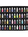 48-färger glas flaska charmiga nail art dekoration slump modeller