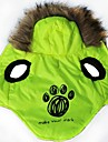 Dog Hoodies - XS / S / M / L - Winter - Green Terylene