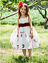 Ball Gown Tea-length Flower Girl Dress - Polyester