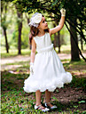 Princess Tea-length Flower Girl Dress - Silk
