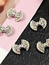 10st bling ab crystal strass bowtie med pärla 3d legering nagel konst dekoration